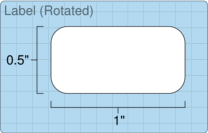 """Roll of 1"""" x 0.5""""  Thermal  labels"""