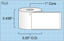 """Roll of 2.3125"""" x 4""""  Thermal  labels"""