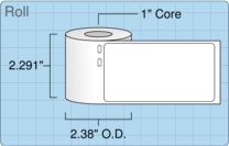 """Roll of 2.125"""" x 4""""  Thermal  labels"""