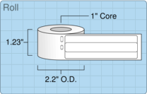 """Roll of 0.5625"""" x 3.4375""""  Thermal  labels"""