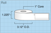 """Roll of 0.75"""" x 2""""  Thermal  labels"""