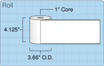 """Roll of 4"""" x 10.125""""  Thermal  labels"""