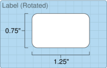 """Roll of 1.25"""" x 0.75""""  Thermal  labels"""