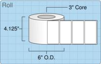 """Roll of 4"""" x 2""""  Inkjet  labels"""