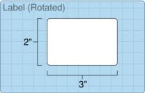 """Roll of 3"""" x 2""""  Inkjet  labels"""