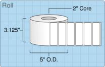 """Roll of 3"""" x 1""""  Inkjet  labels"""