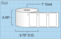 """Roll of 2.25"""" x 1.25""""  Thermal  labels"""