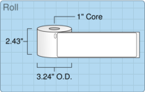 """Roll of 2.3125"""" x 7.5""""  Thermal  labels"""
