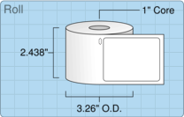 """Roll of 2.125"""" x 2.75""""  Thermal  labels"""