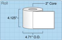 """Roll of 4"""" x 5""""  Inkjet  labels"""