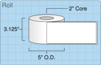 """Roll of 3"""" x 7""""  Inkjet  labels"""