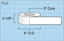 """Roll of 2"""" x 8.5""""  Inkjet  labels"""