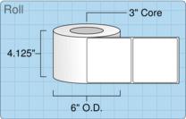 """Roll of 4"""" x 4""""  Inkjet  labels"""