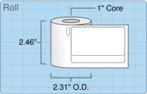 """Roll of 1.8"""" x 3.1""""  Thermal  labels"""