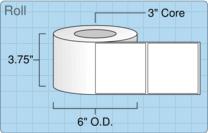 """Roll of 3.625"""" x 3.625""""  Inkjet  labels"""