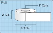 """Roll of 2"""" x 6""""  Inkjet  labels"""