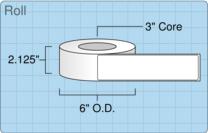 """Roll of 2"""" x 8""""  Inkjet  labels"""