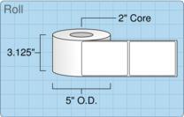 """Roll of 3"""" x 4""""  Inkjet  labels"""