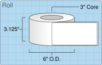 """Roll of 3"""" x 6""""  Inkjet  labels"""