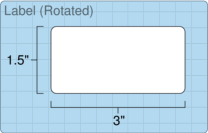 """Roll of 3"""" x 1.5""""  Inkjet  labels"""