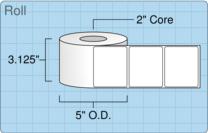 """Roll of 3"""" x 2.5""""  Inkjet  labels"""