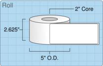 """Roll of 2.5"""" x 6""""  Inkjet  labels"""