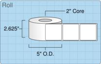 """Roll of 2.5"""" x 2.5""""  Inkjet  labels"""