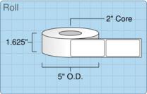 """Roll of 1.5"""" x 3""""  Inkjet  labels"""