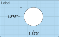 """Roll of 1.375"""" Circle  Inkjet  labels"""