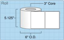"""Roll of 5"""" x 4""""  Inkjet  labels"""