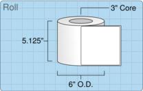 """Roll of 5"""" x 5""""  Inkjet  labels"""