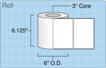 """Roll of 6"""" x 4""""  Inkjet  labels"""