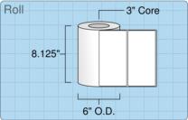 """Roll of 8"""" x 4""""  Inkjet  labels"""