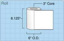 """Roll of 8"""" x 8""""  Inkjet  labels"""