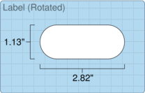 """Roll of 2.82"""" x 1.13""""  Inkjet  labels"""
