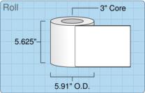 """Roll of 5.5"""" x 7.5""""  Inkjet  labels"""