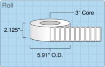 """Roll of 2"""" x 0.625""""  Inkjet  labels"""
