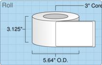 """Roll of 3"""" x 4.5""""  Inkjet  labels"""