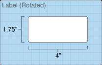 """Roll of 4"""" x 1.75""""  Inkjet  labels"""