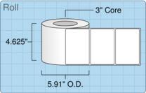 """Roll of 4.5"""" x 3""""  Inkjet  labels"""