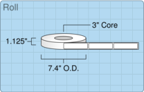 """Roll of 1"""" x 4""""  Thermal  labels"""