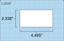 """Roll of 2.3377"""" x 4.4954""""  Inkjet  labels"""