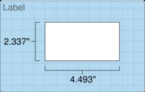 """Roll of 2.3365"""" x 4.493""""  Inkjet  labels"""
