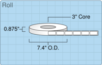 """Roll of 0.75"""" x 1.5""""  Thermal  labels"""