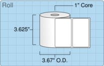 """Roll of 3.5"""" x 2""""  Thermal  labels"""