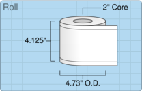 """Roll of 4"""" x 179' Continuous Feed  Inkjet  labels"""