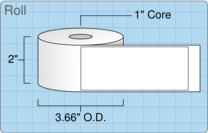 """Roll of 1.88"""" x 4.62""""  Thermal  labels"""