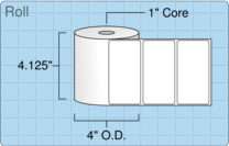 """Roll of 4"""" x 2""""  Thermal  labels"""