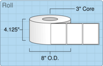 """Roll of 4"""" x 3""""  Thermal  labels"""