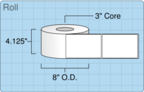 """Roll of 4"""" x 6""""  Thermal  labels"""